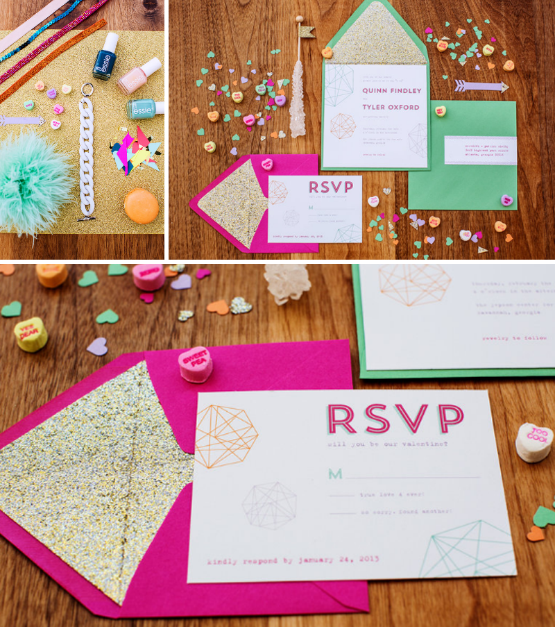valentines-day-styled-shoot-jepson-center-miss-pickles-press-invitation-suites-geometric-shapes-invitations-bright-neon-colors-mod-wedding-inspiration