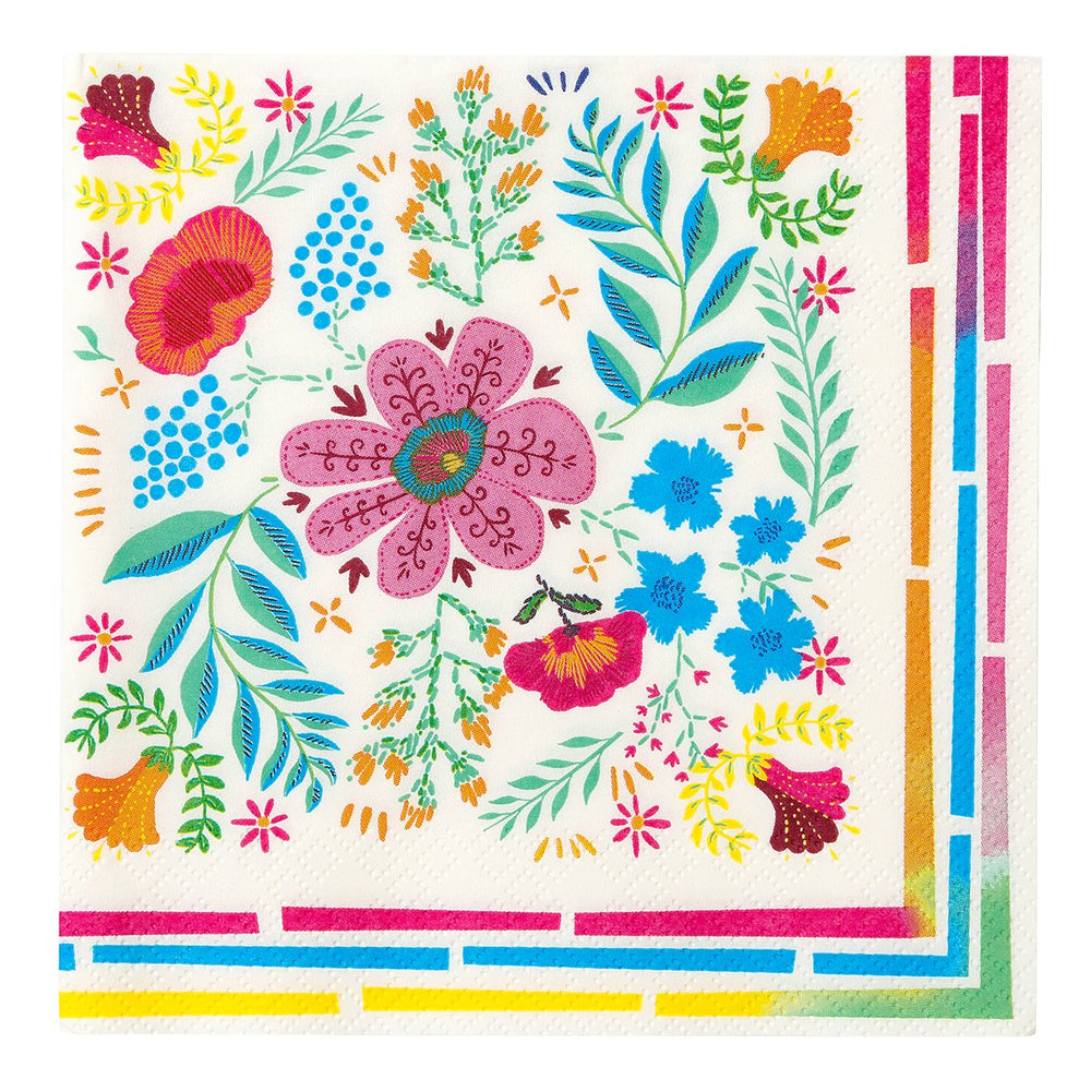 Load image into Gallery viewer, Boho Floral Colourful Paper Napkins