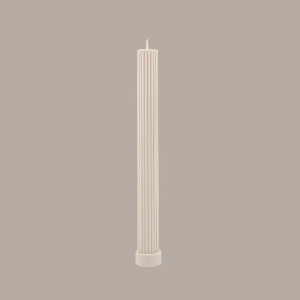 Column Pillar Candle-Cream White