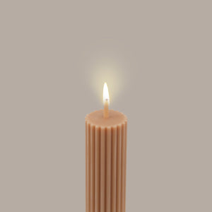 Load image into Gallery viewer, Column Pillar Candle - Peach