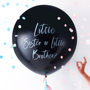 Load image into Gallery viewer, Gender Reveal Little Brother Or Sister Balloon Kit