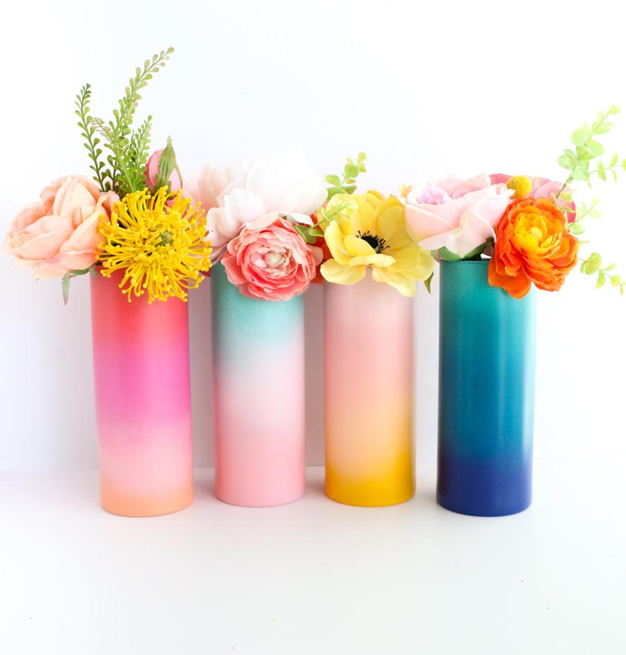 Load image into Gallery viewer, Gradient Ombre Flower Vase