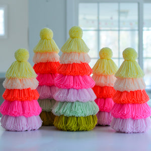 Load image into Gallery viewer, Neon Sherbet Tassel Christmas Tree