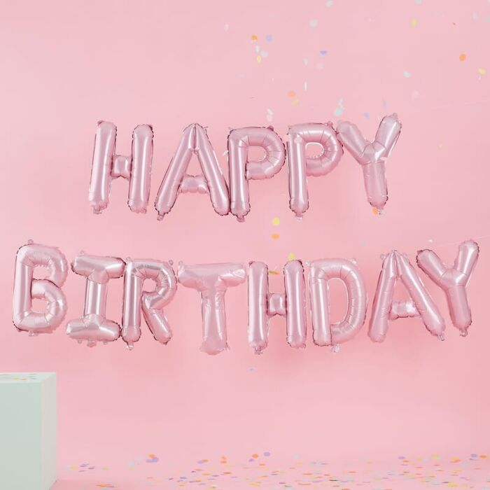 Load image into Gallery viewer, Matte Pink Happy Birthday Balloon Garland