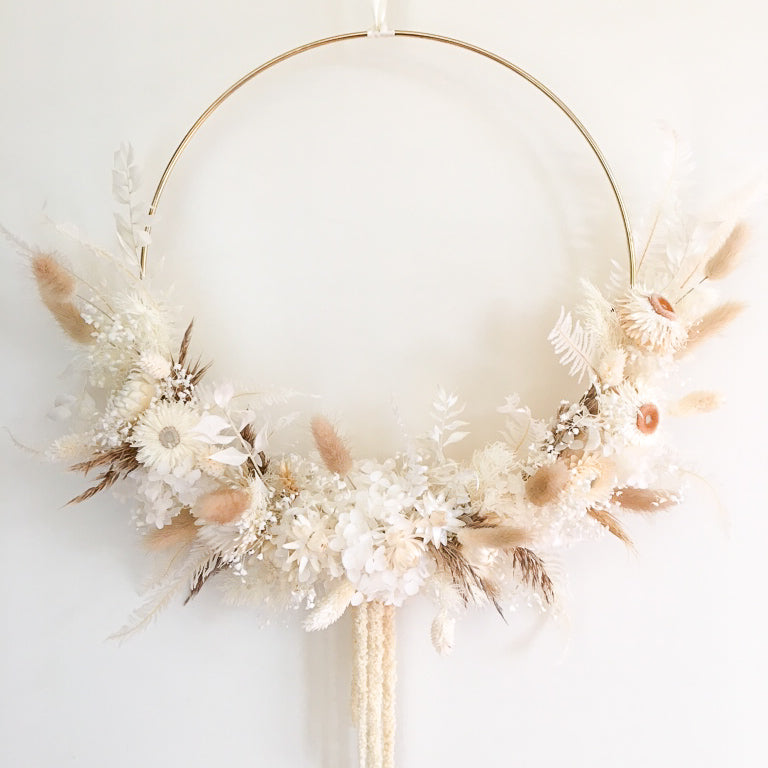 Dreamy Dried & Preserved Floral Wreath-Large