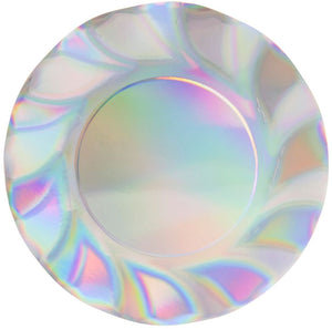Load image into Gallery viewer, Iridescent Wavy Paper Salad Plate
