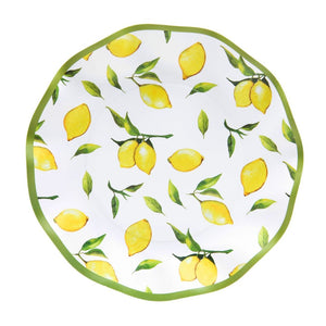 Load image into Gallery viewer, Lemon Drop Wavy Salad Plate