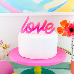 Load image into Gallery viewer, Neon Love Sign Acrylic Cake Topper
