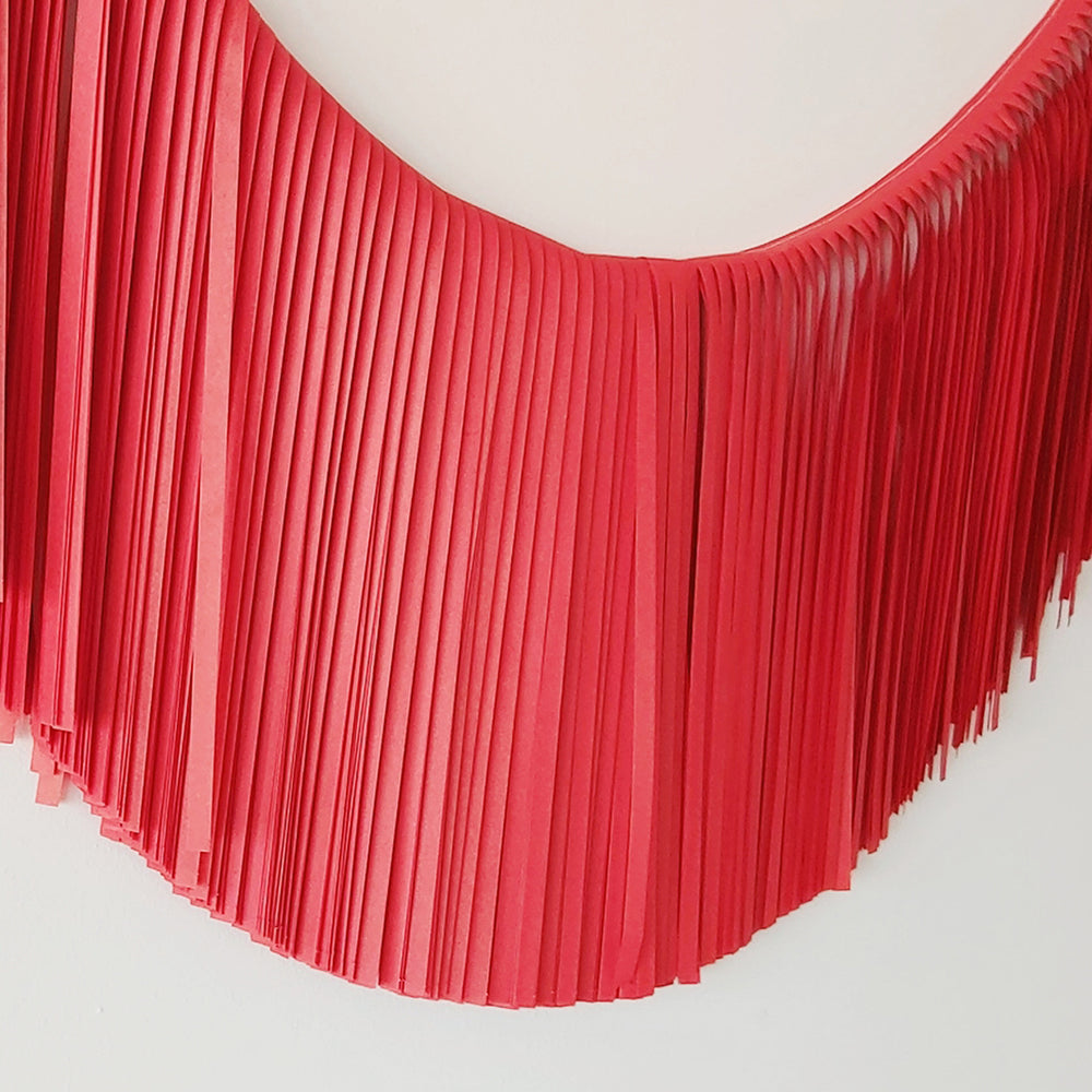 Fringe Garland - Red