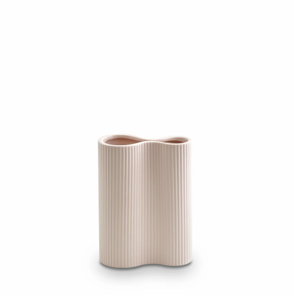 Ribbed Infinity Vase Nude - Small