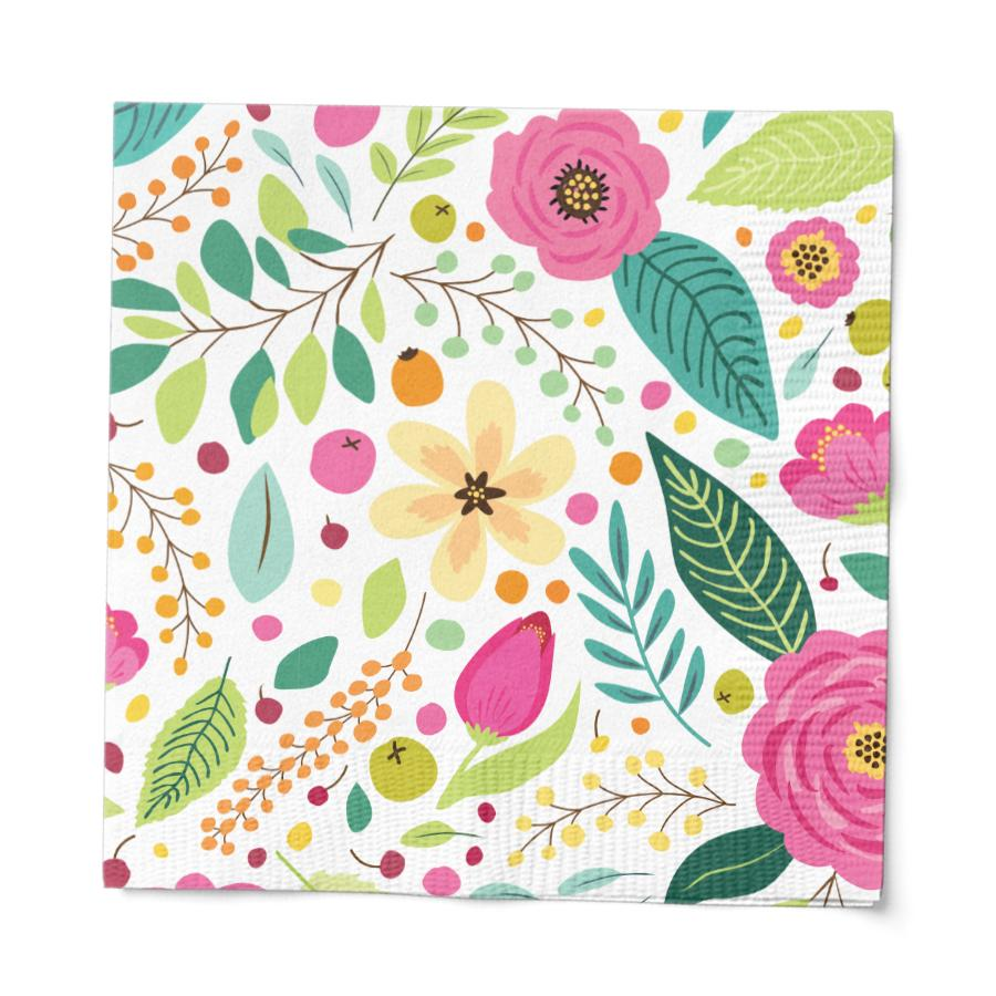 Load image into Gallery viewer, Spring Blossoms Cocktail Paper Napkin