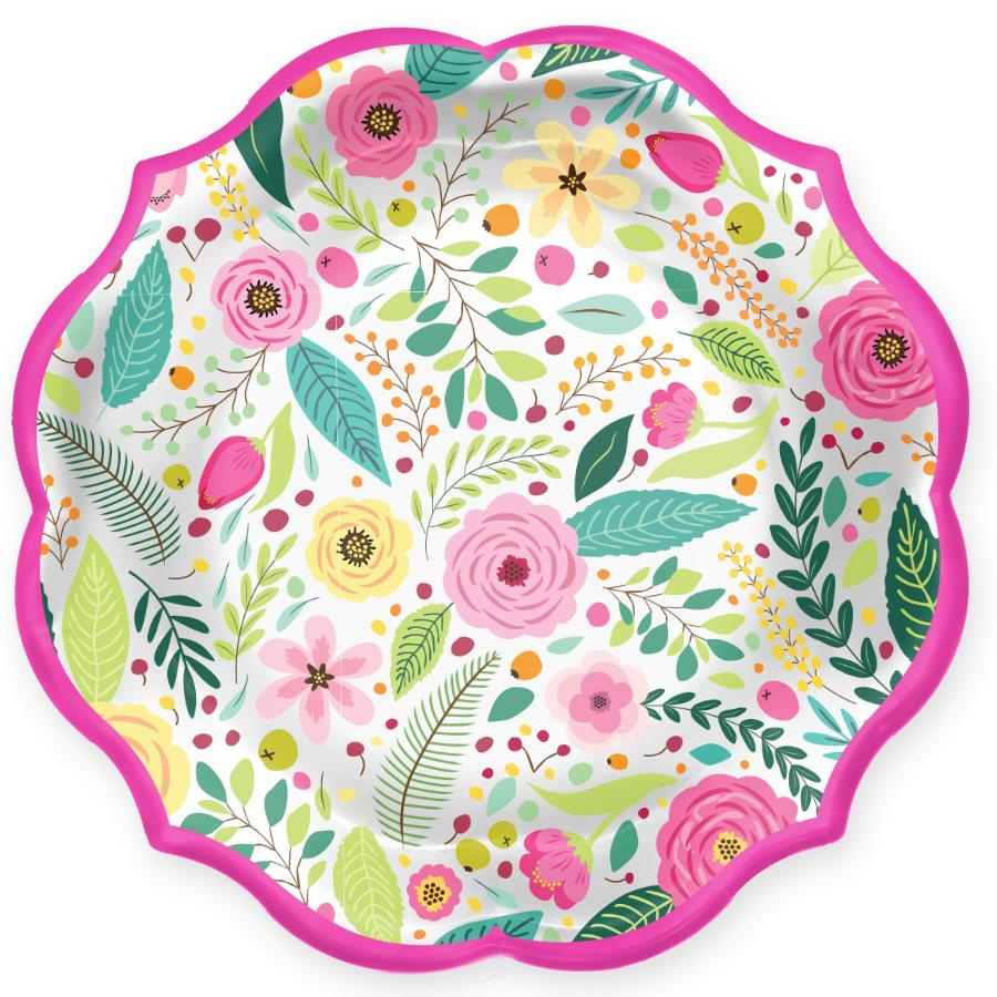 Spring Blossoms Paper Salad Plate