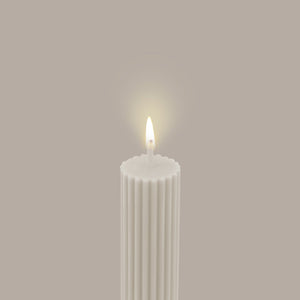 Load image into Gallery viewer, Column Pillar Candle-Cream White