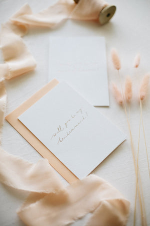 Load image into Gallery viewer, Will You Be My Bridesmaid-Linen Card
