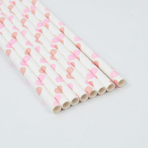 Load image into Gallery viewer, Pink Polka Dot Paper Straws