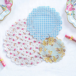 Load image into Gallery viewer, Truly Scrumptious Floral Paper Doilies