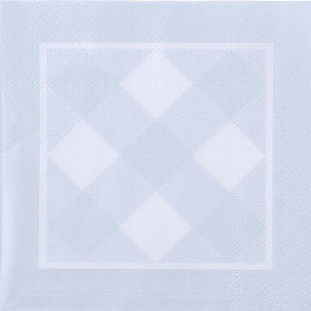 Gingham Paper Cocktail Napkin