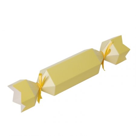 Bonbon Favour Box Pastel Yellow 10pk