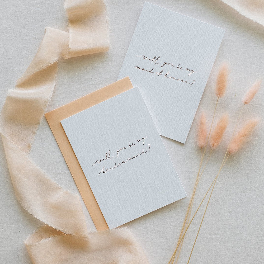 Will You Be My Maid Of Honour - Linen Card