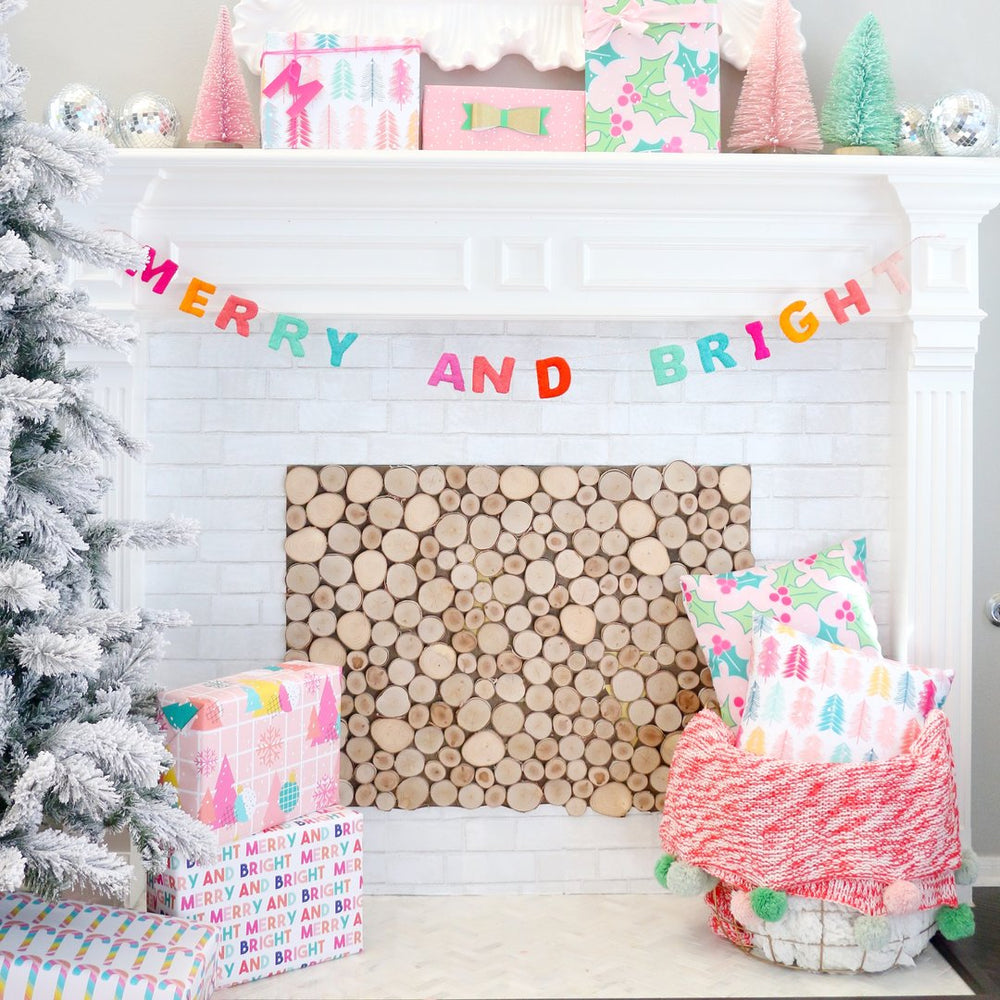 Load image into Gallery viewer, Merry & Bright Felt Christmas Garland