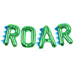Load image into Gallery viewer, Dinosaur Party Roar Foil Balloon Bunting
