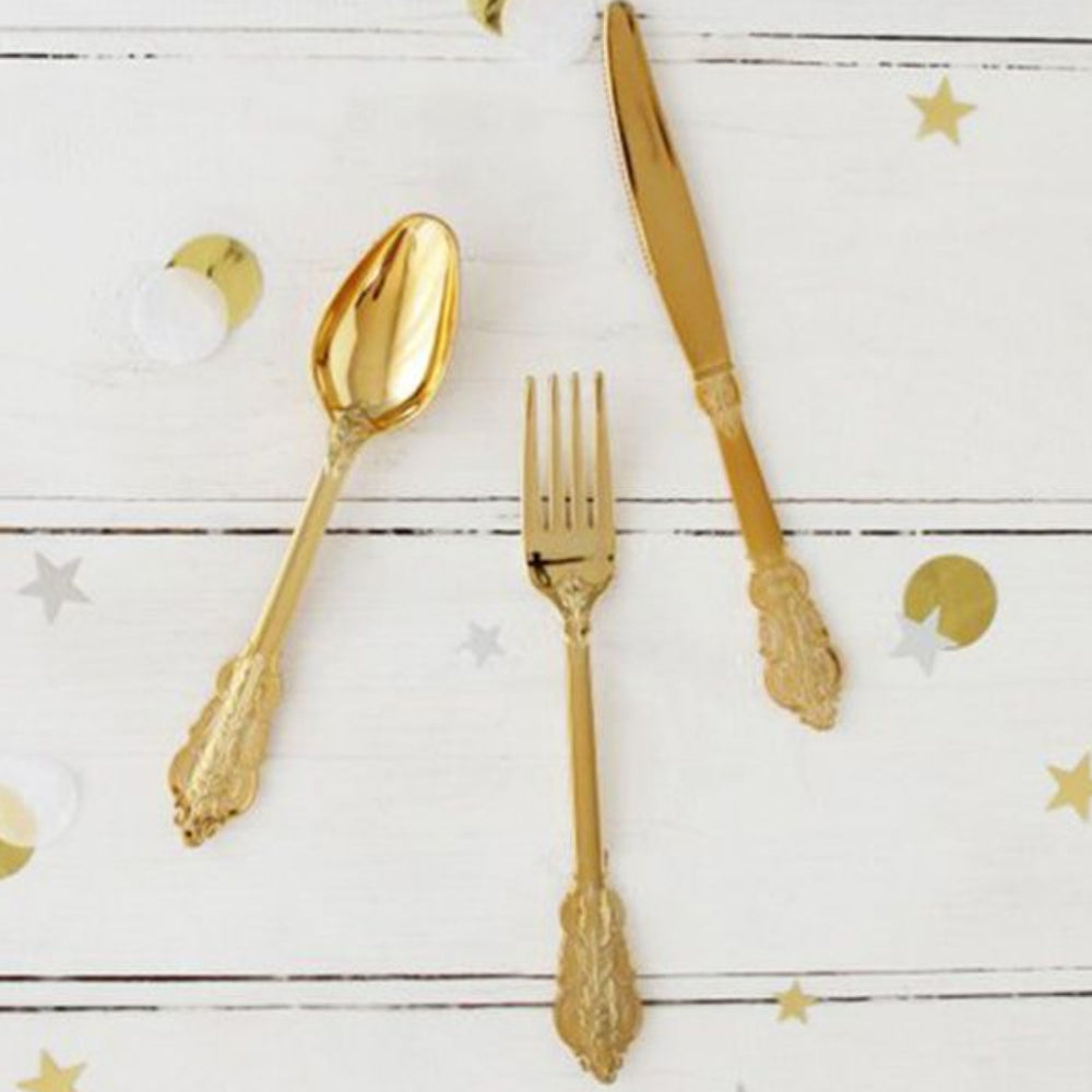 Load image into Gallery viewer, Gold Cutlery Set