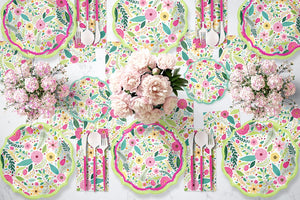 Load image into Gallery viewer, Spring Blossoms Paper Salad Plate