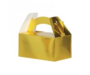 Lunch Favour Box Metallic Gold 5pk