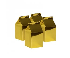 Metallic Gold Milk Boxes 10pk