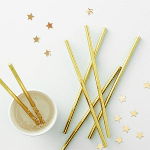 Load image into Gallery viewer, Gold Paper Straws