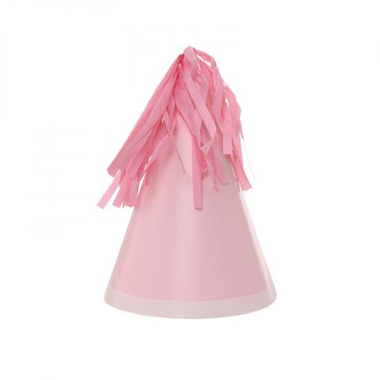 Tassel Pastel Pink Party Hats 10pk