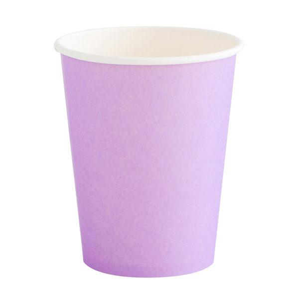 Lilac paper party cups