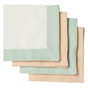 Load image into Gallery viewer, Napkin Set - Mint & Beige