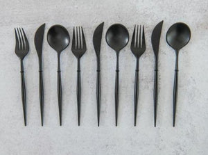 Load image into Gallery viewer, Bella Cutlery Set - Black