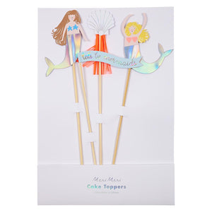 Load image into Gallery viewer, Let's Be Mermaids Cake Toppers
