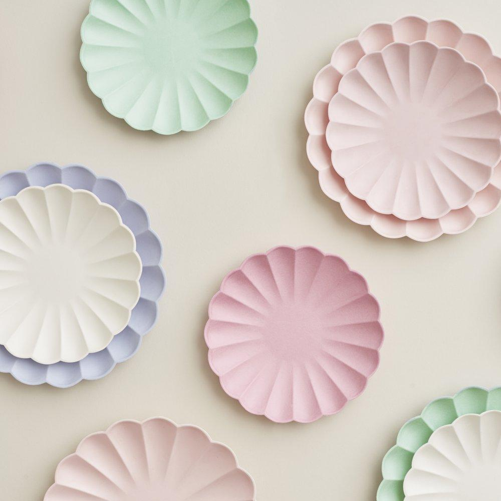 Multicolour Eco Large Pastel Plates