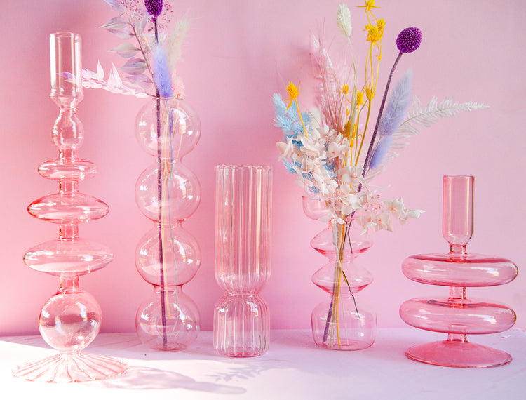 Load image into Gallery viewer, Blush Quatro Bubble Vase