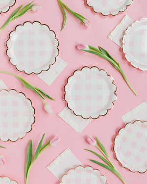 Load image into Gallery viewer, Baby Pink Fringed Cocktail Napkins