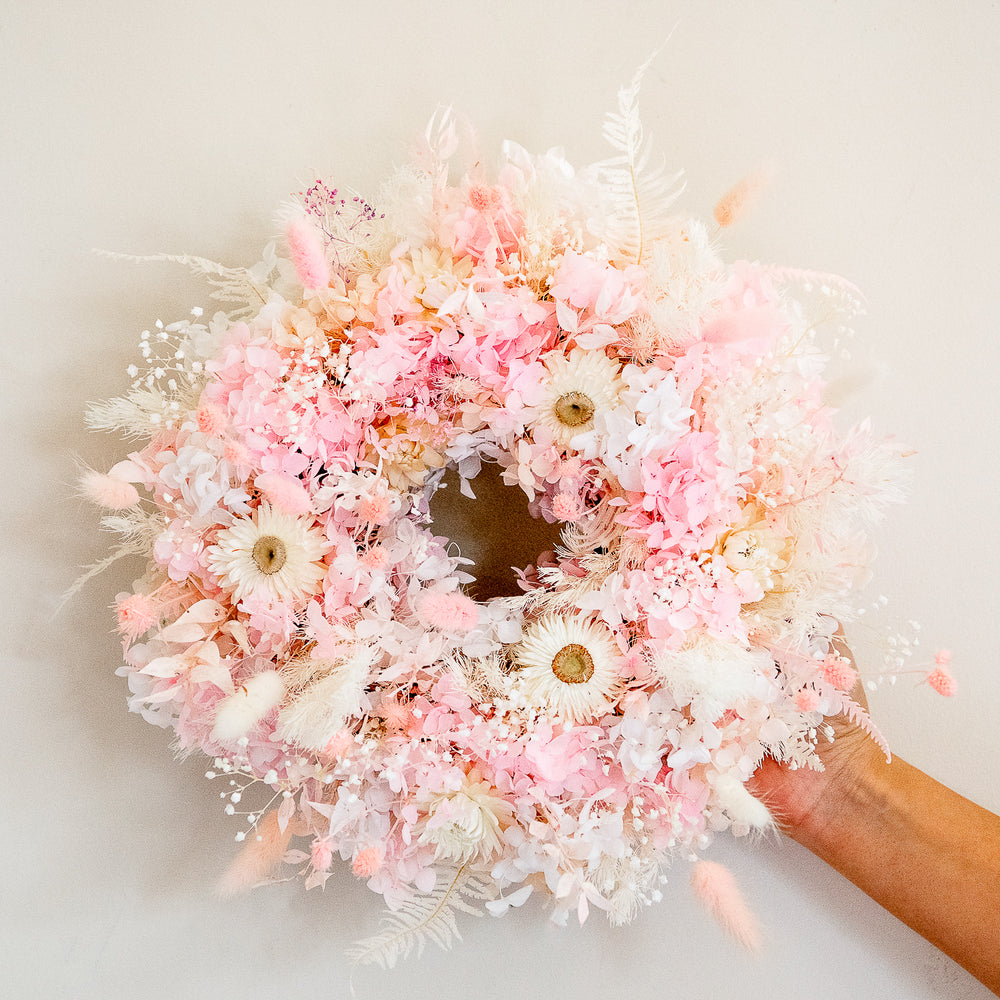 Fairy Floss Christmas Wreath