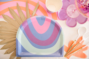 Load image into Gallery viewer, Rainbow Bloom Dinner Plate Set 8pk