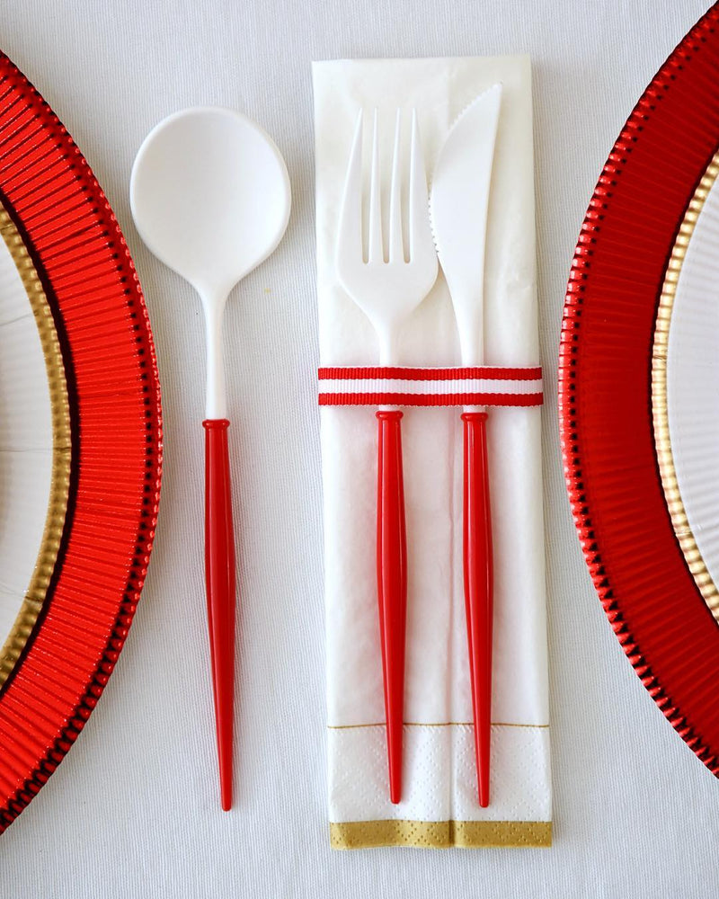 Load image into Gallery viewer, Bella Cutlery Set - Red