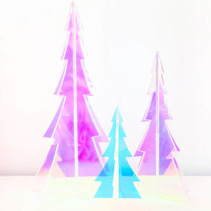 Load image into Gallery viewer, Iridescent 3D Acrylic Christmas Trees