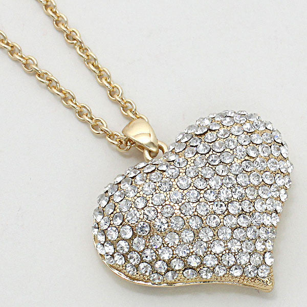 "Crystal Heart Bling 18"" Necklace"