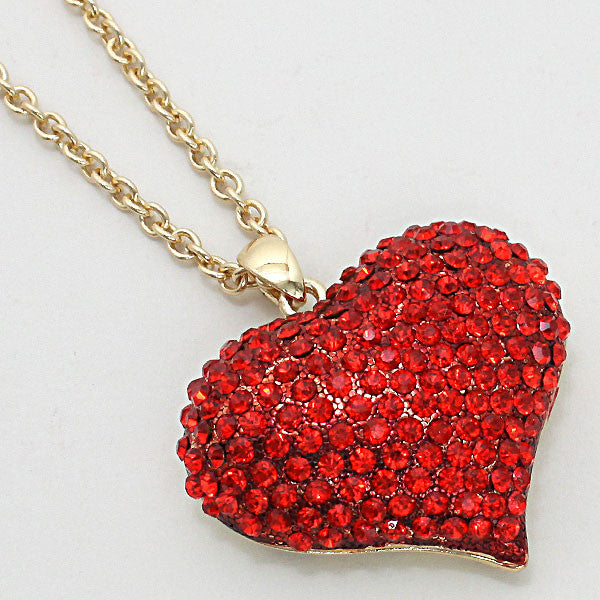 "Heart Bling 18"" Necklace"