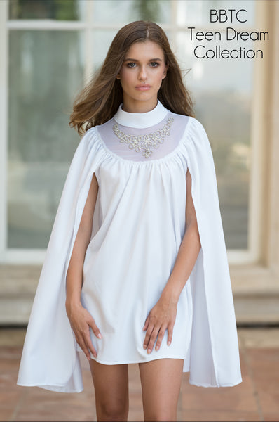 White Cape Dress