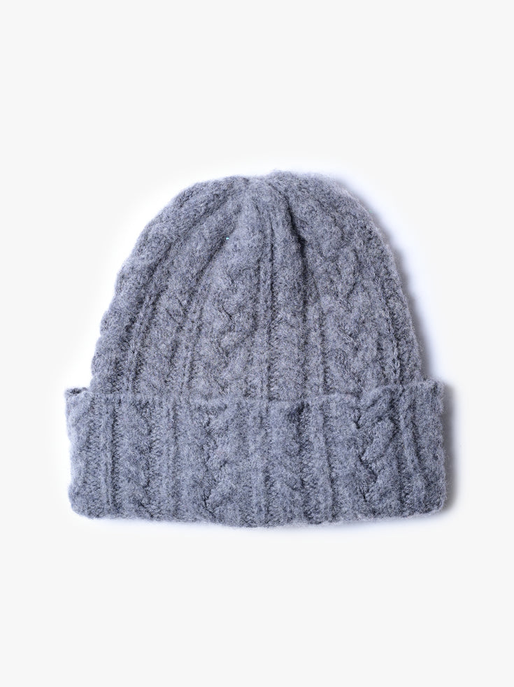 Cable Festival Hat - Grey Mix