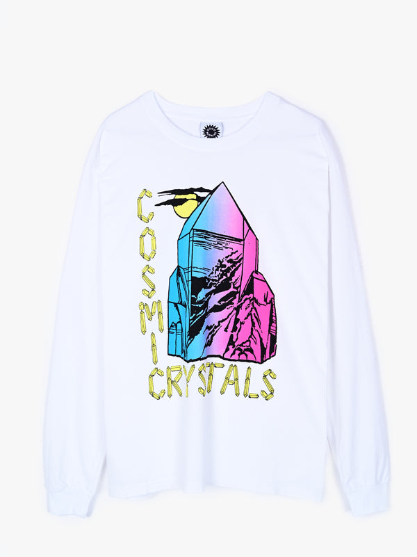 Crystal Mountain LS Tee - White