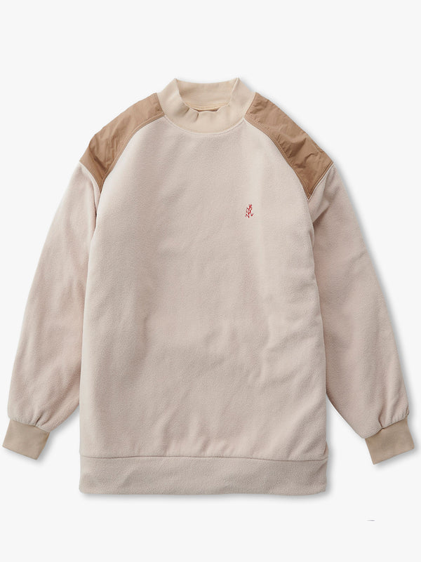 Fleece Mock Neck Shirt - Ivory