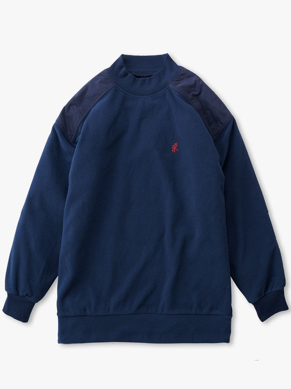 Fleece Mock Neck Shirt - Navy
