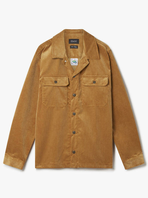 Magic Work Shirt  - Beige UK Corduroy